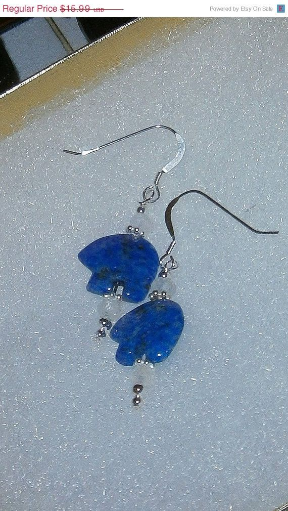 ON SALE NOW 925 Sterling silver Blue Lapis Lazuli & by dsmenagerie, $12.79