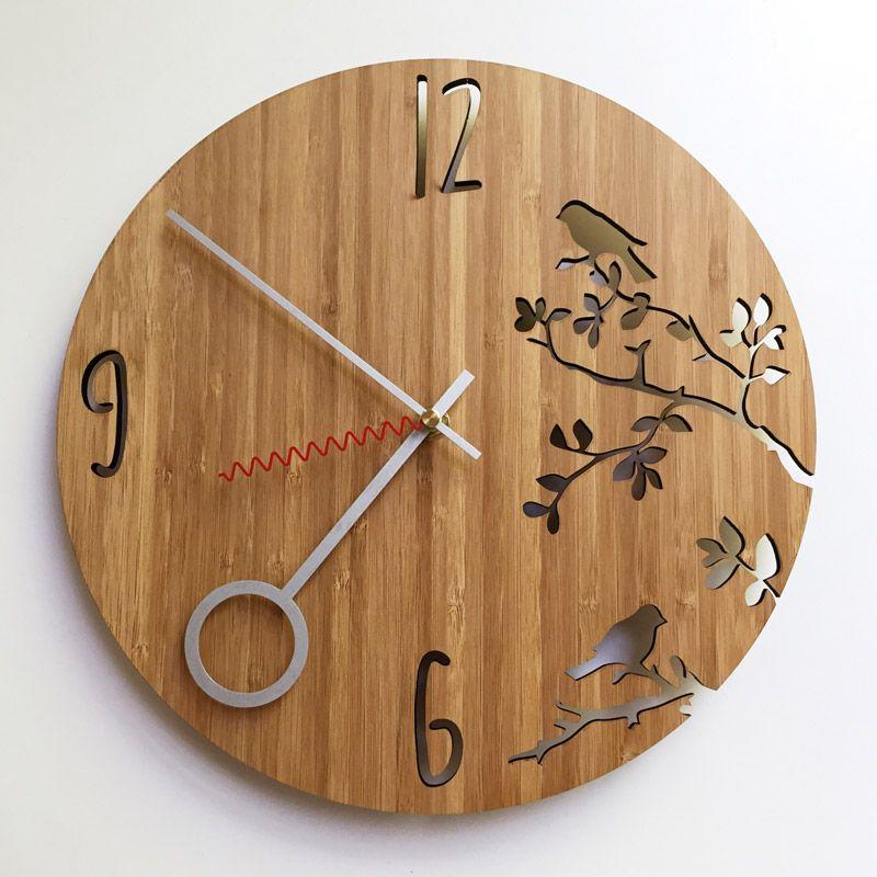 2536edc3511 Birds Wall Clock - Hallo Jane