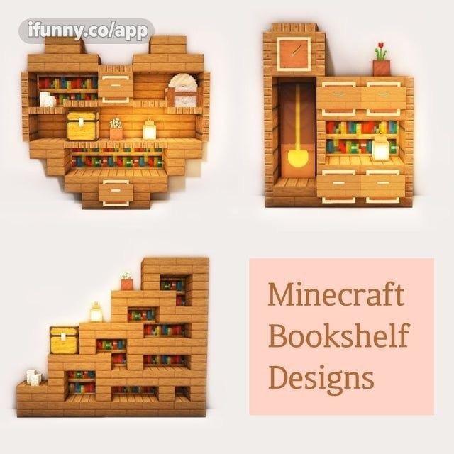 Minecraft Bookshelf Designs - iFunny :)