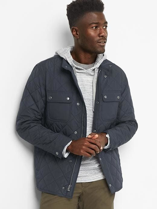 Gap Mens Quilted Shirt Jacket True Navy Size Xxxl Products