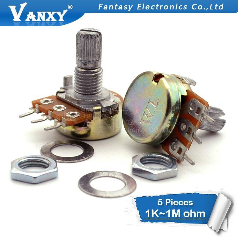 B500k Linear Potentiometer Assortment B1k B2k B10k B250k B5k B100k B1M B50k B20k 30 pcs 10 Values