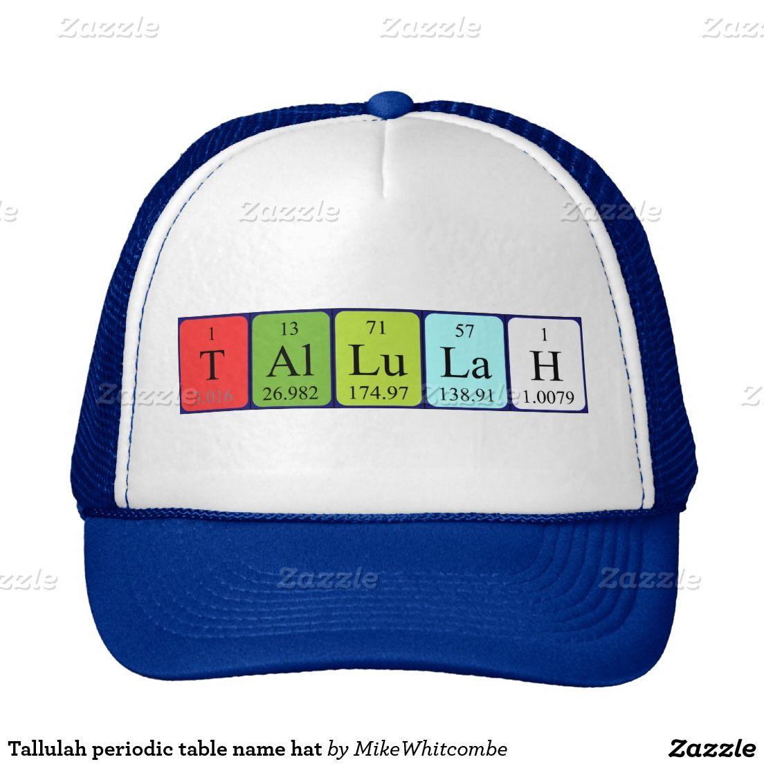 Tallulah periodic table name hat periodic table tallulah periodic table name hat urtaz Image collections