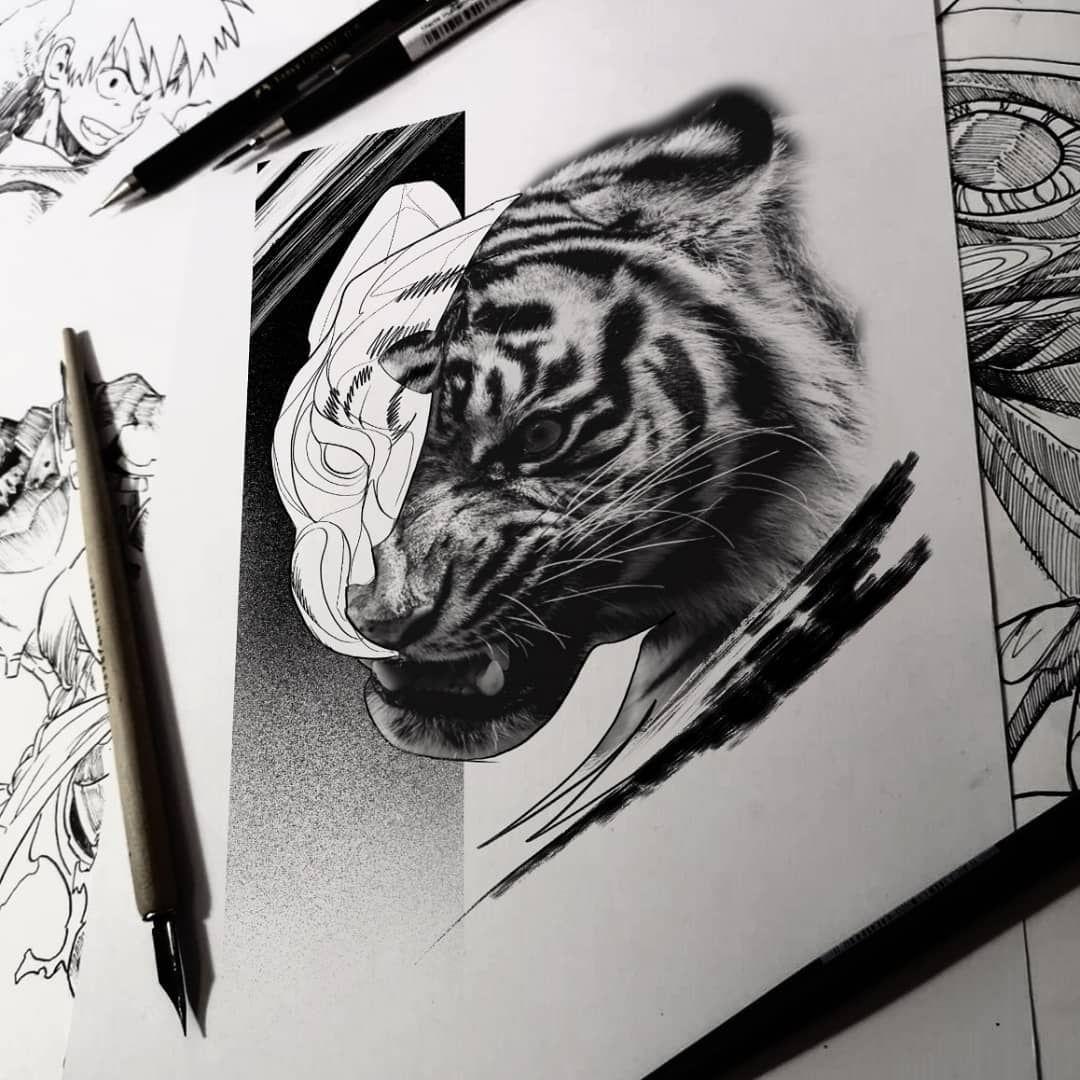 Tiger @vikinkessen @vikinkhamburg @bheppo #tattoo #tats #tatts #skull #tiger #inkmagazine #woman #blackworktattoo #black #animals #beautiful #sketch #ink #inked #inkedlife #lifestyle #tattoomag #tattoomagazines #blackwork #inkmagazine