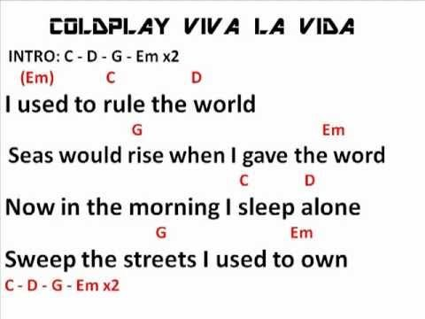 viva la vida chords - Google Search | School | Pinterest | School