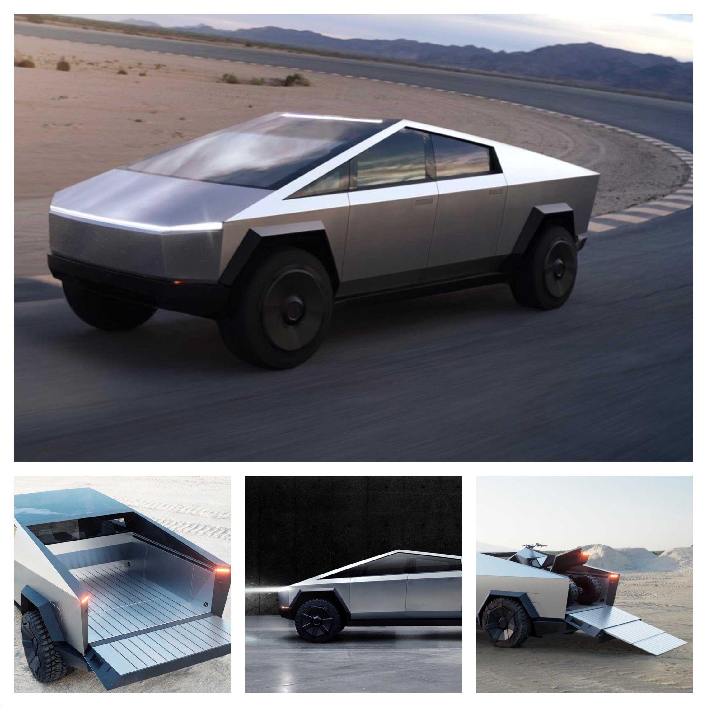 Tesla Cybertruck Electric Pick Up With Autonomy Of Up To 800 Kilometers And All Wheel Drive Tesla Tesla Electric Car Tesla New Tesla