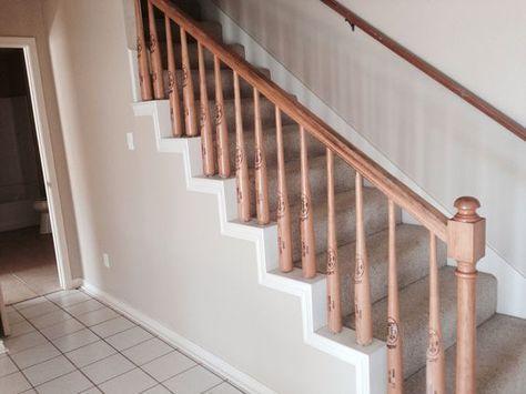 Baseball Bat Hand Railing Stair Stairs Bar Designs