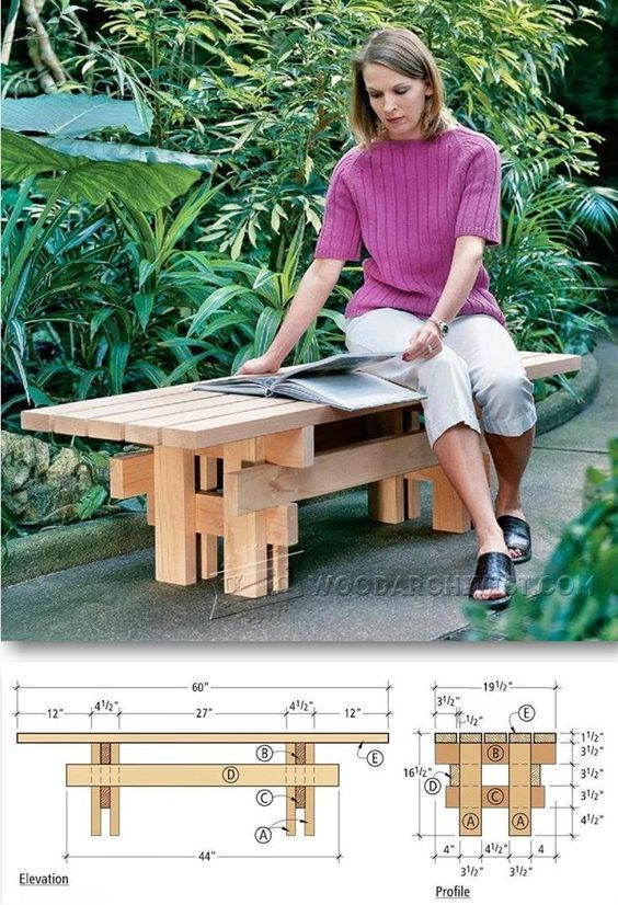 Japanese garden bench plans outdoor furniture plans and projects japanese garden bench plans outdoor furniture plans and projects woodarchivist blueprints materials list save time and money our custom malvernweather Images
