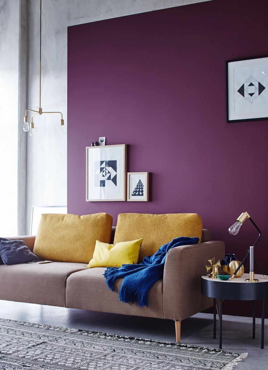 wohnideen mit farben - einrichten und dekorieren mit gelb, blau, Wohnzimmer dekoo