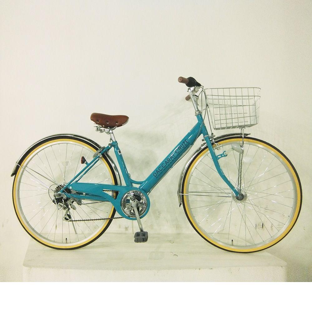 ダカラット27外装6段オートライト Tブルー 自転車 オート ライト