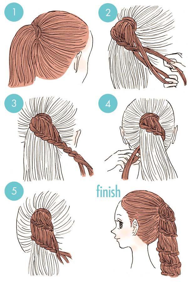 Trenzas fáciles para mamás y niñas | tejidos | Pinterest