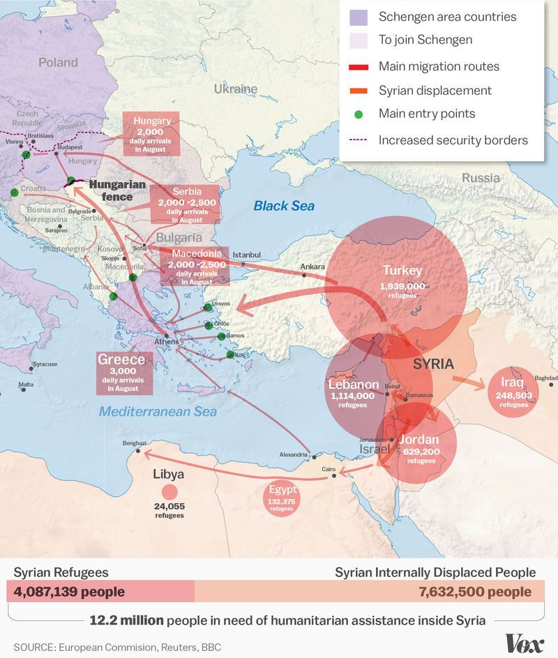 The syrian refugee crisis explained in one map refugee crisis stories like that of aylan kurdi the syrian boy whose body washed up on a gumiabroncs Choice Image