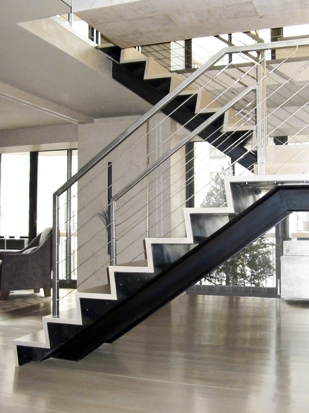 Best Folded Steel Look Stair Clad In Wood Name Structural 400 x 300