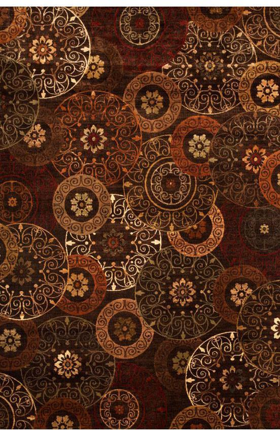 Bayden Hill 7023 5x8 Sonoma Lundy Rust Brown Ivory Area Rug Rugs