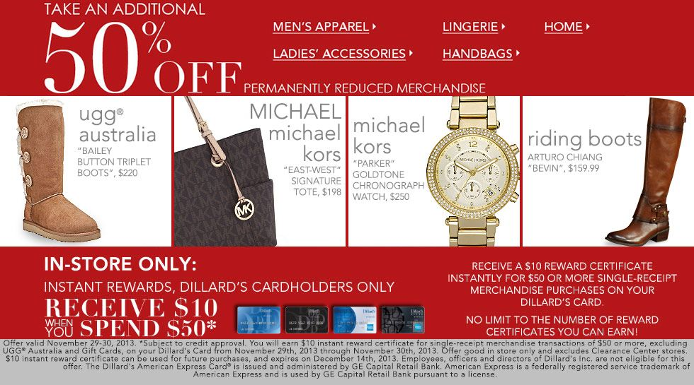 518b32d2fff Dillard's Black Friday Sale! Save 25% Off Select Items | Black ...