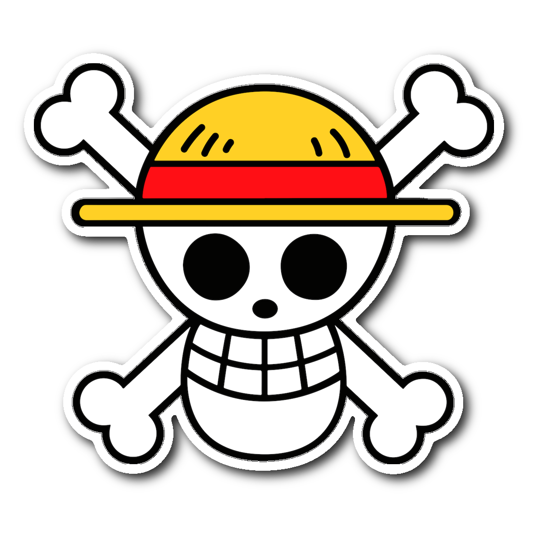 One piece straw hat pirates luffy symbol sticker
