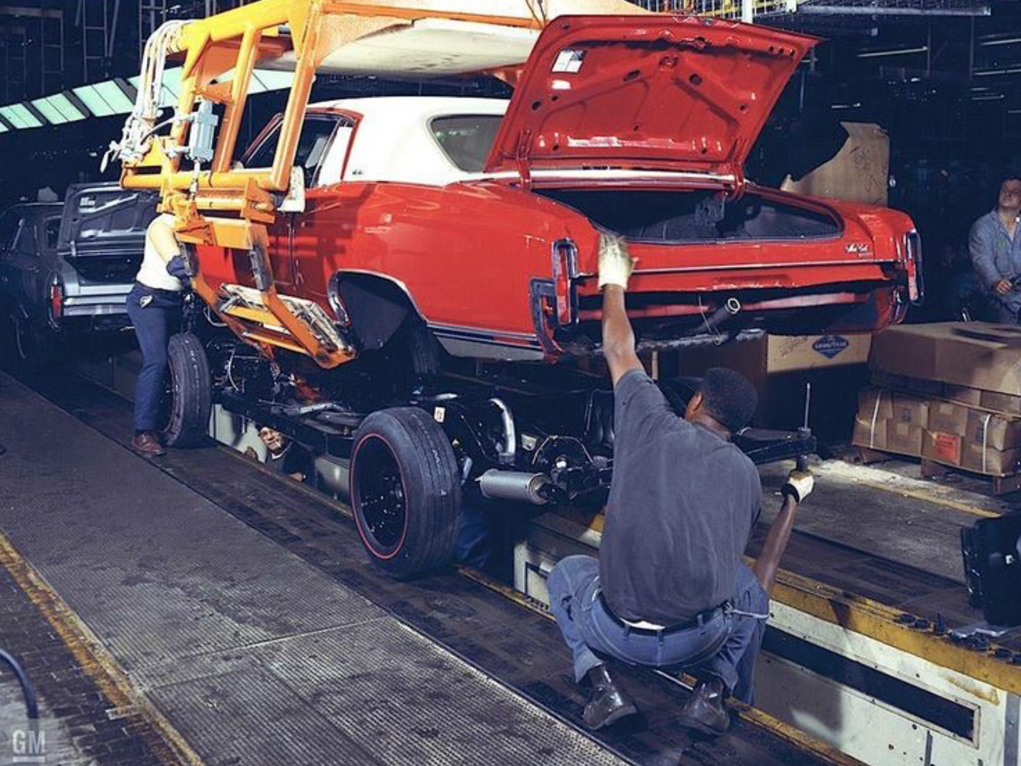 1970 Chevrolet Monte Carlo Assembly Line | Vintage muscle cars, Chevrolet  monte carlo, Chevy muscle cars