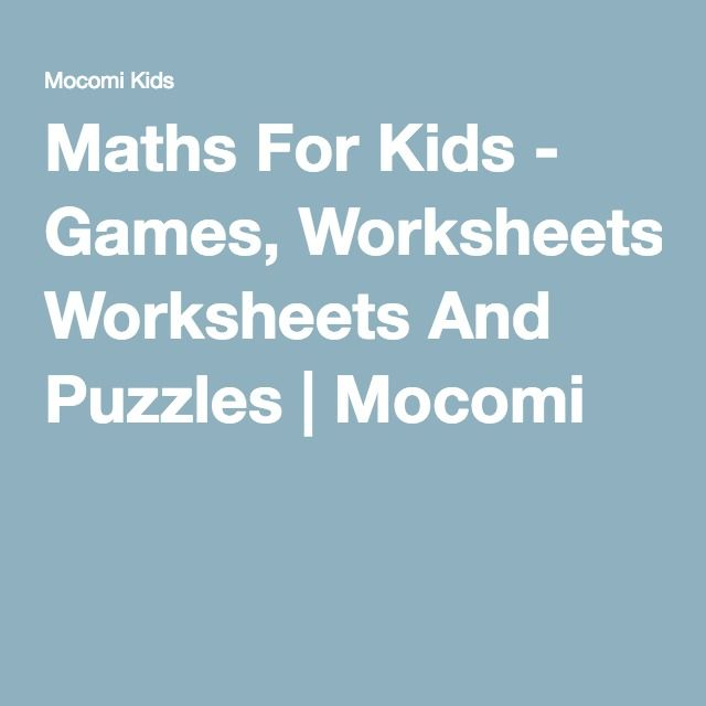 Maths For Kids - Games, Worksheets And Puzzles | Mocomi ...