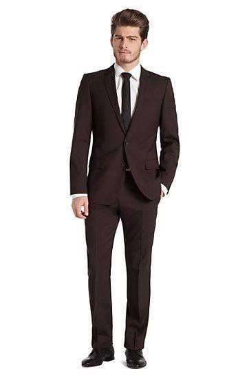 designer suit in blended shorn wool amaro heise dark. Black Bedroom Furniture Sets. Home Design Ideas