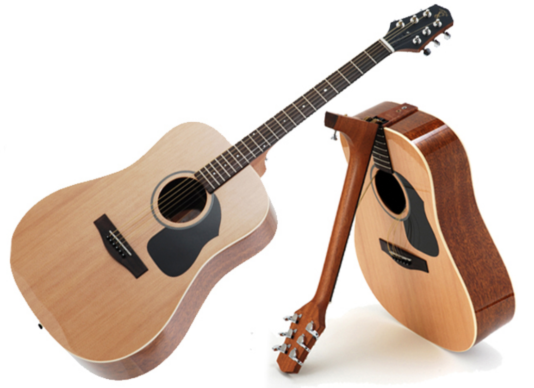 Celebrate The Launch Of Acoustic Guitar On The Go By Entering This Free Voyage Air Guitar Giveaway At Truefire Acoustic Guitar Guitar Air Guitar