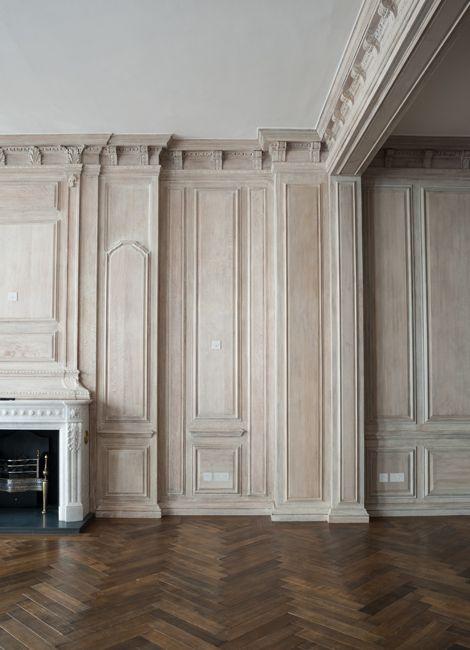 Rupert Bevan Interior Finishes Limed Oak Wall Panelling Kampen