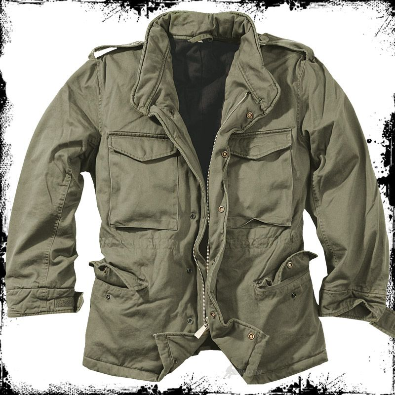 77a25123685 SURPLUS ARMY CLASSIC M65 WASHED WINTER JACKET MILITARY MENS FIELD PARKA  OLIVE OD in Clothes