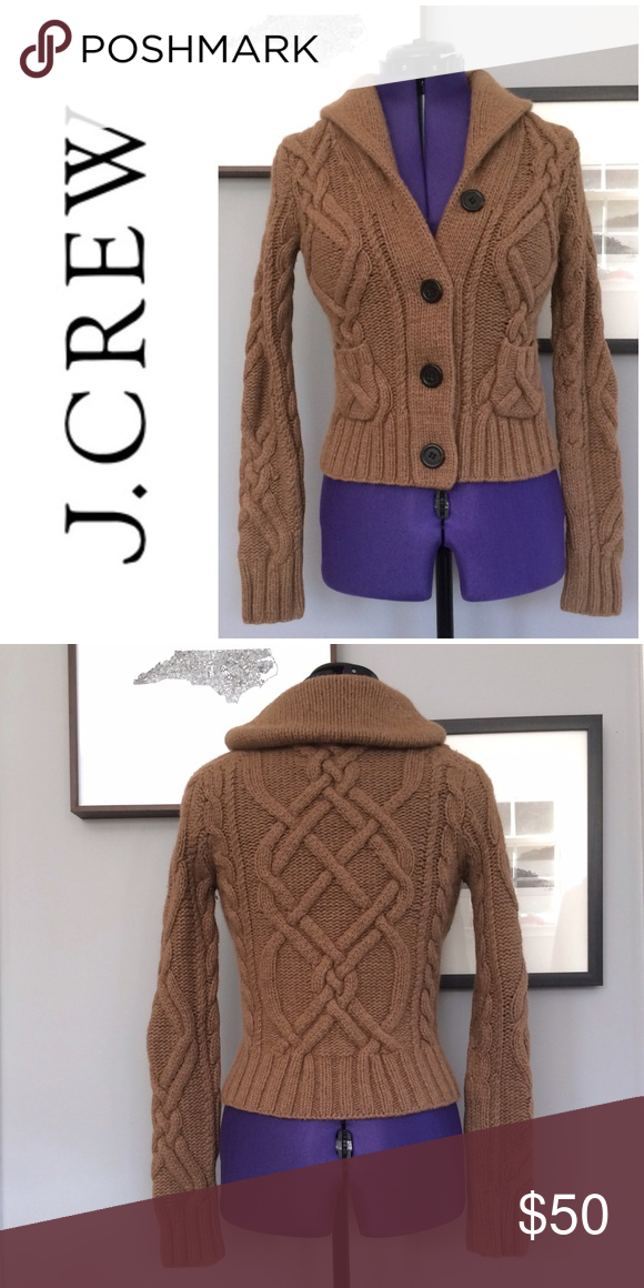 J.Crew Handknit Sweater • Cable Knit Cardigan | Chunky cable knit ...