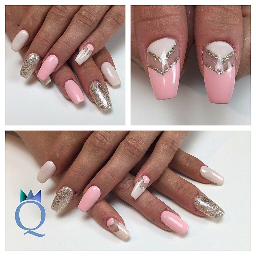 coffinnails #ballerina #shape #nails #gelnails #negativespace ...