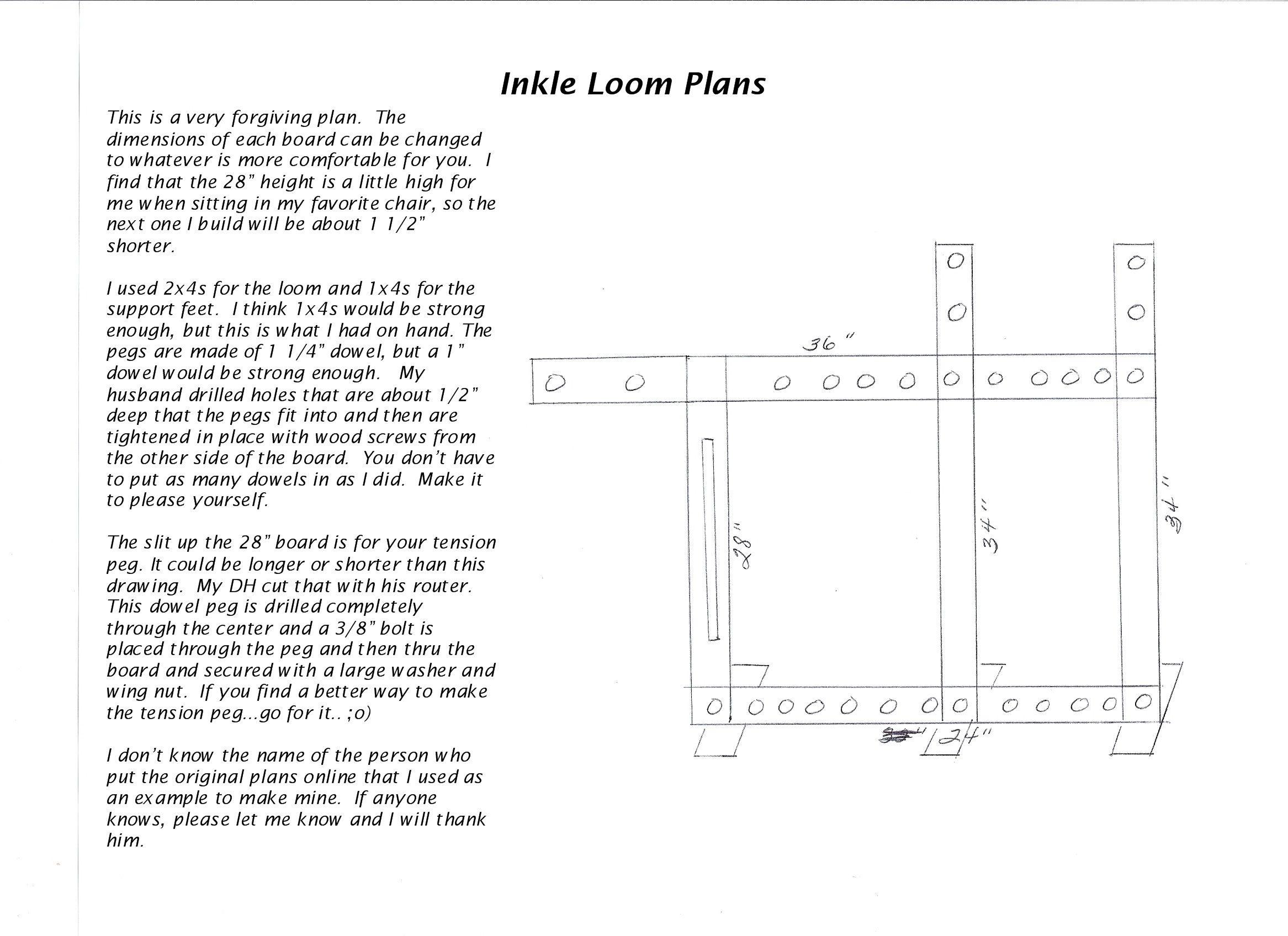 Floor inkle weaving loom plans... for card weaving also.   Weaving ...