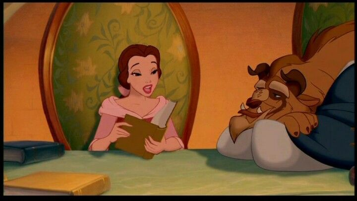 Belle Reading To Beast Disney Beauty And The Beast Disney