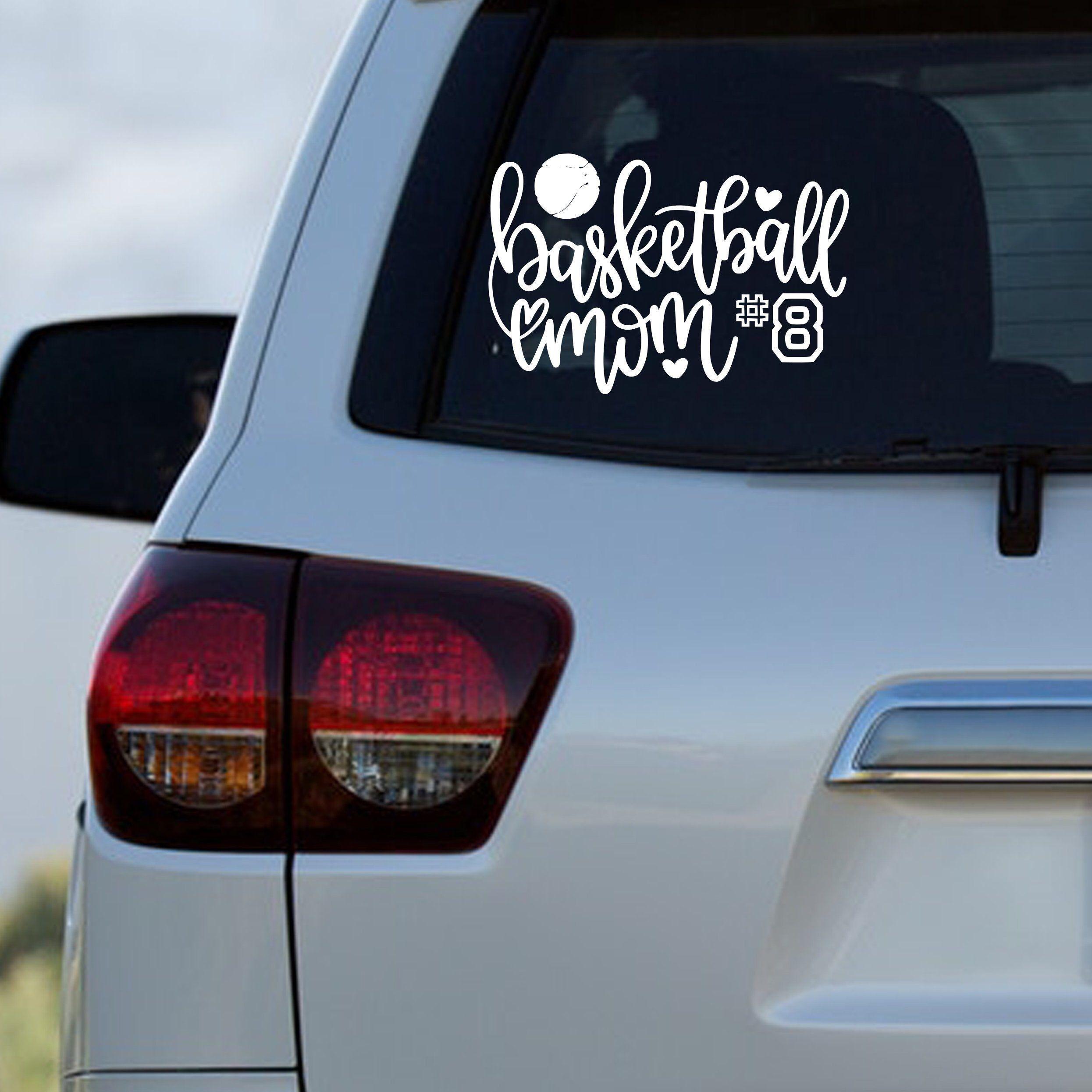 Basketball Mom Car Window Decal Etsy Cute Car Decals Car Monogram Decal Vinyl For Cars [ 2491 x 2491 Pixel ]