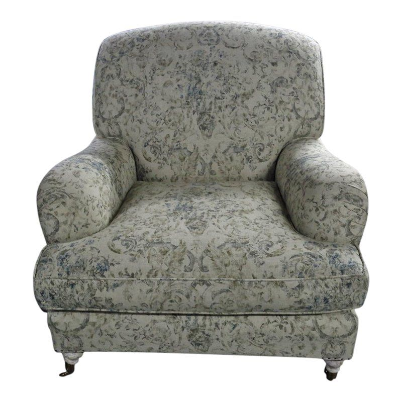 Armchair W/Cotton Upholstery