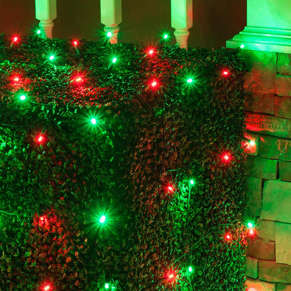 4 x 6 led net lights 100 red green lamps green wire