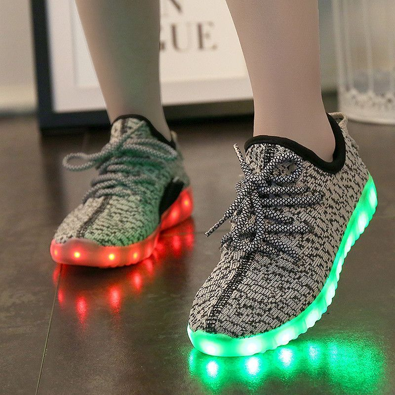 A MD Kids Yeezy Light Up Shoes