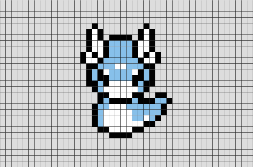 Pokemon Dratini Pixel Art Brik Pixel Art Designs Pinterest