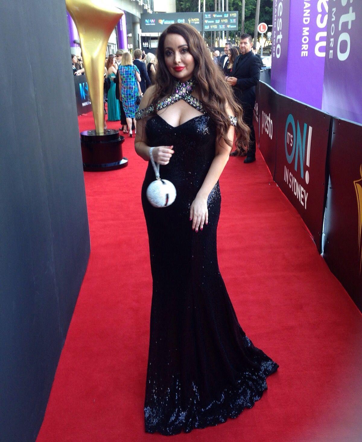 Marisa Lamonica was wearing Villoni Dress at AACTA awards in Sydney ...