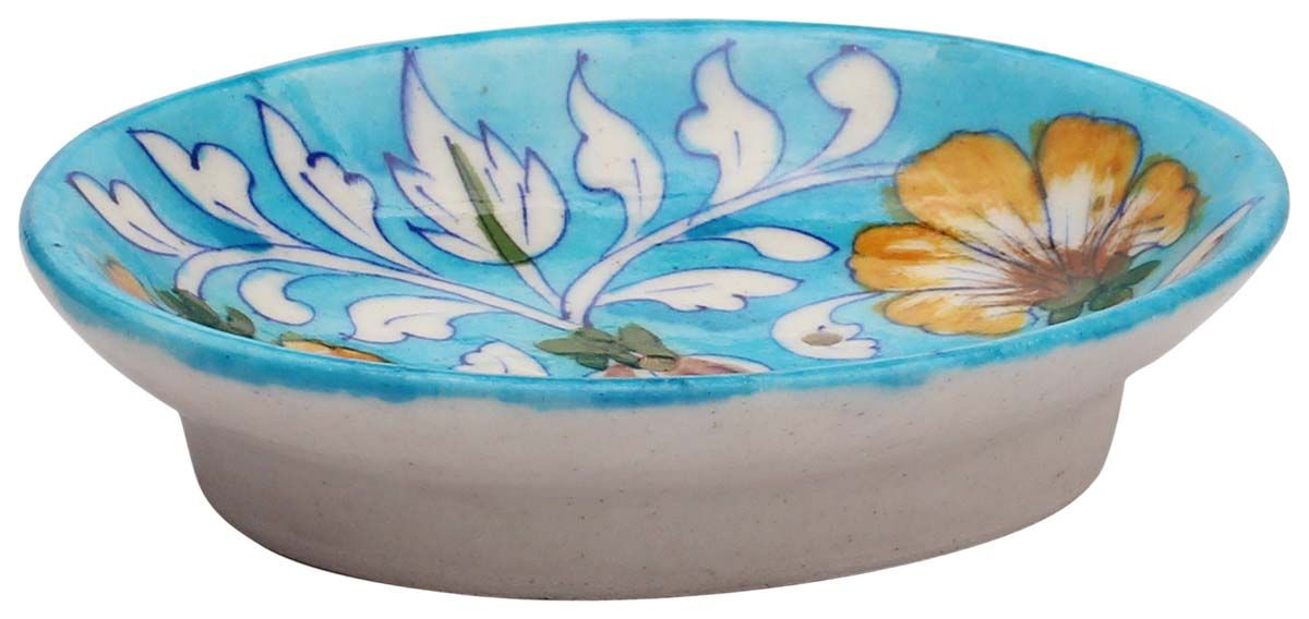 Wholesale Ceramic Soap Dish Sky Blue 5 5 Inch Ceramic Soap Dish