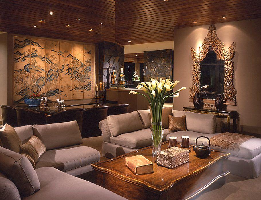 contemporary asian living room design of interior palm desert ca donna livingston