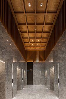 室町古河三井ビルディング オフィスビル インテリアデザイン エントランスホール