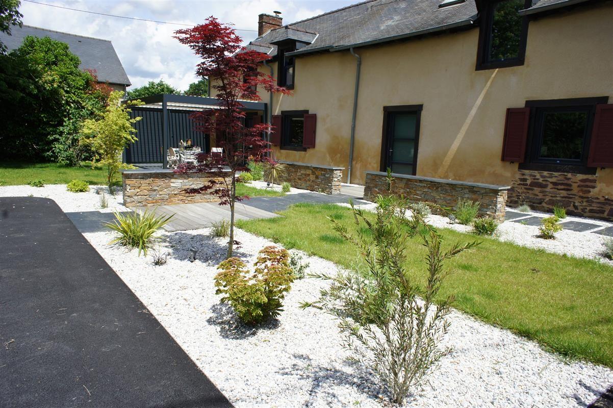 Maison de campagne - Réalisations paysagiste Rennes - Paysagiste ...