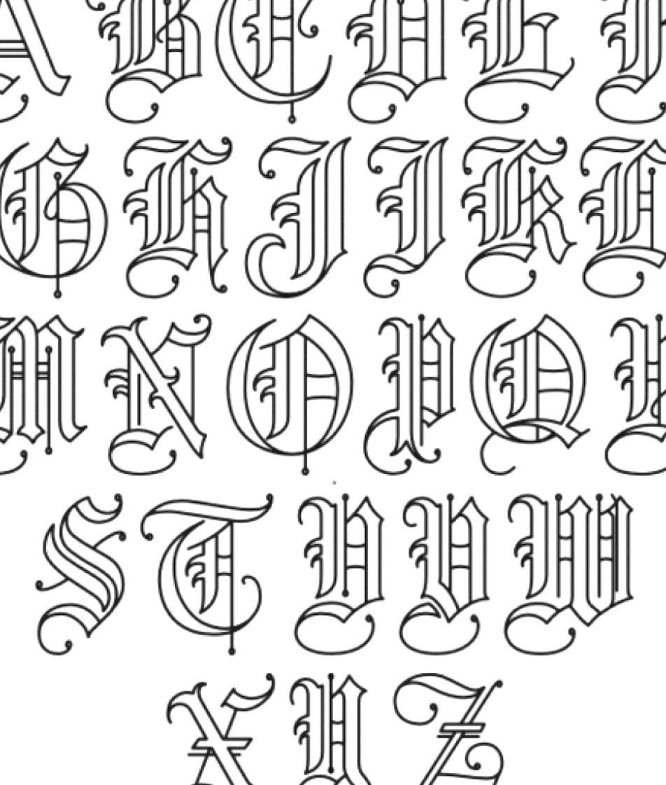 Pin By Rory Aleena On My Collections In 2020 Tattoo Fonts Alphabet Lettering Alphabet Tattoo Lettering Fonts