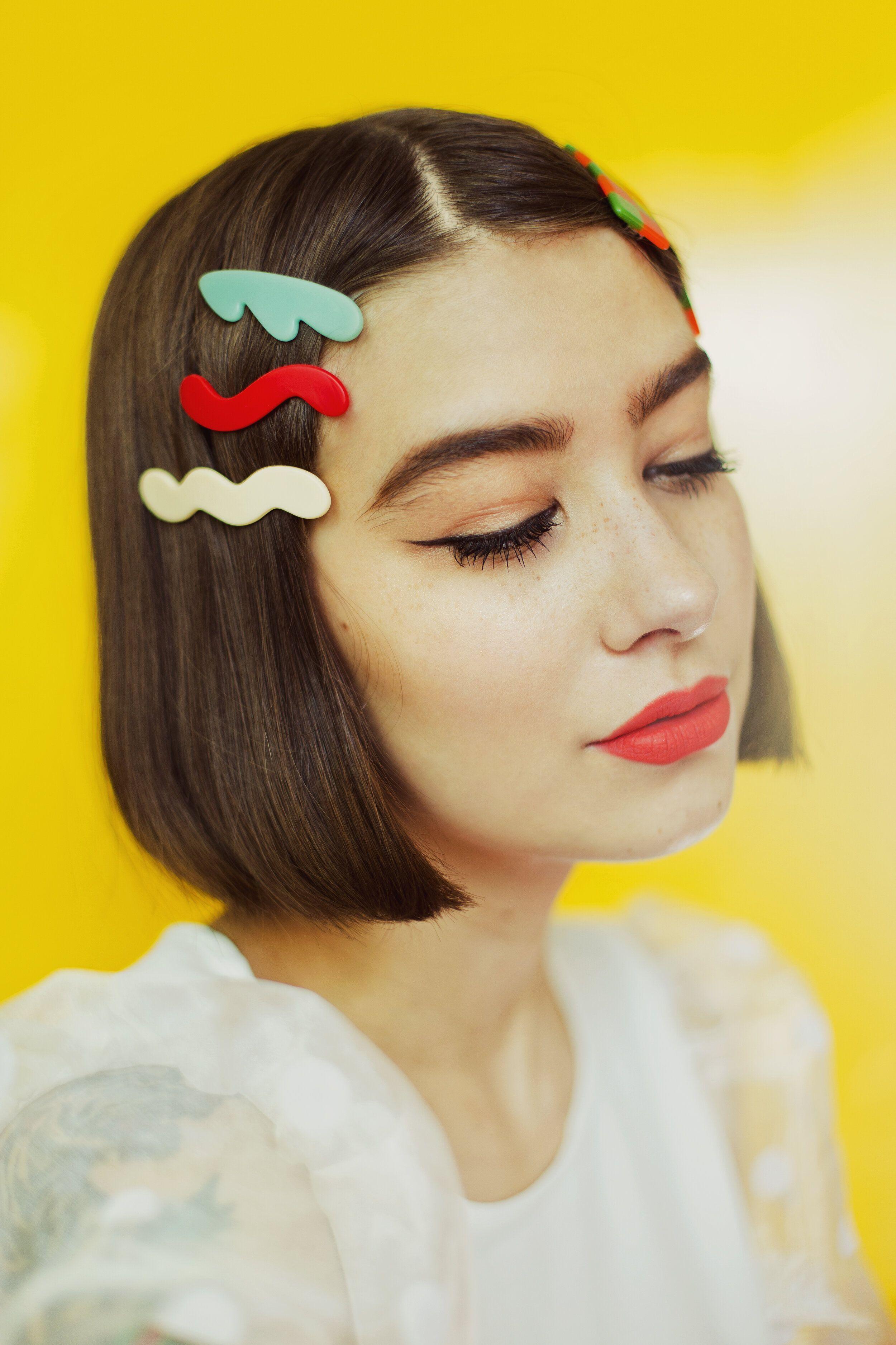 2 Pack Hair Clips Hair Accessory Polymer Clay Hair Clip Alligator clips Hair Barrette Handmade Jewellery