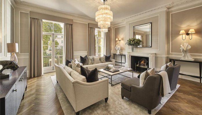 Classic luxury feel interior room private residence