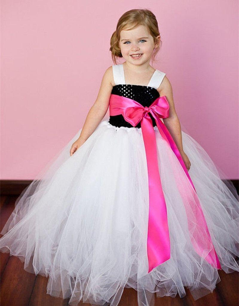 Beautiful Flower Girl Tutu Dress Girls Party Dress Birthday