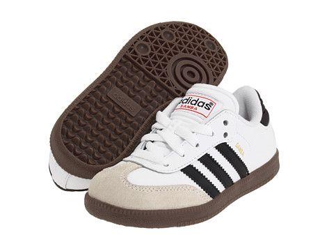 sports shoes 34344 01ace adidas Kids Samba® Classic Core (Toddler Little Kid Big Kid) Running  White Black - Zappos.com Free Shipping BOTH Ways