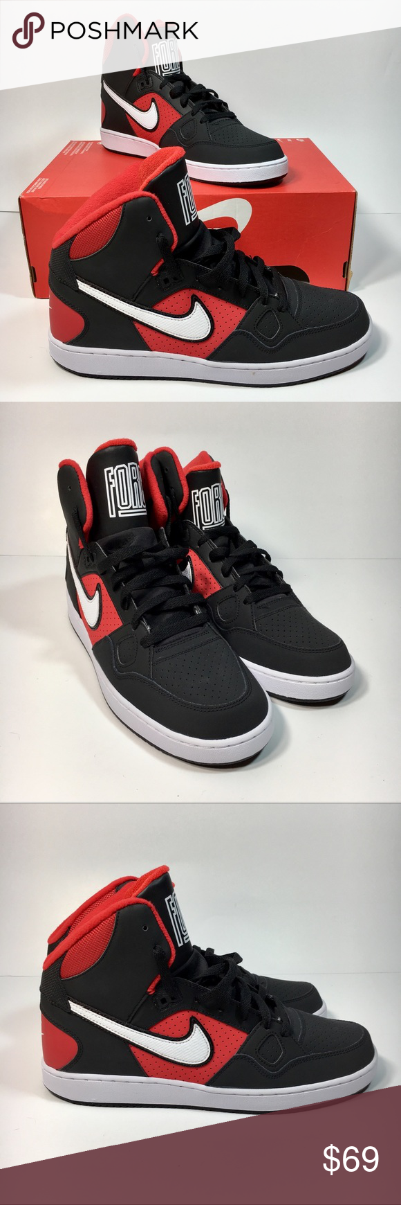 Nike Son Of Force Men's 10.5 Mid Basketball Shoes Nike Son
