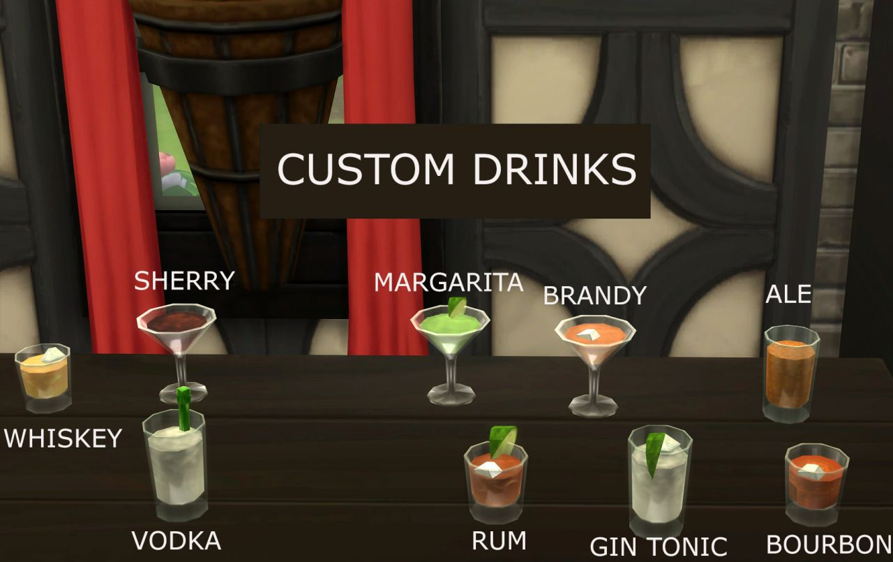 Custom Bar Drinks This mod uses a script to add... ICY