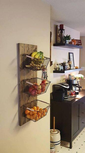 Pour Une Cuisine Petite Mettre Les Fruits Legumes Sur Les Murs Deco Maison Idee Deco Cuisine Idee De Decoration