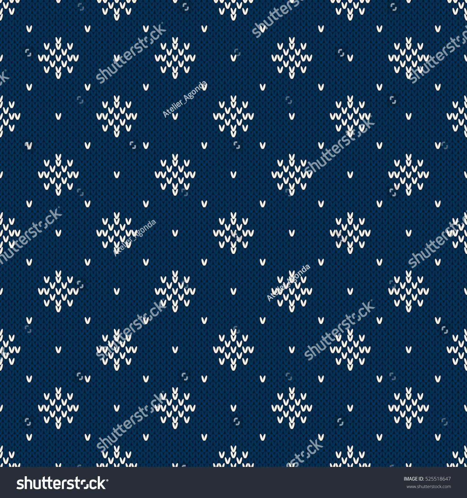 77bfea1aeb6424 Winter Holiday Knitted Pattern with Snowflakes. Fair Isle Knitting Sweater  Design. Seamless Christmas and New Year Background