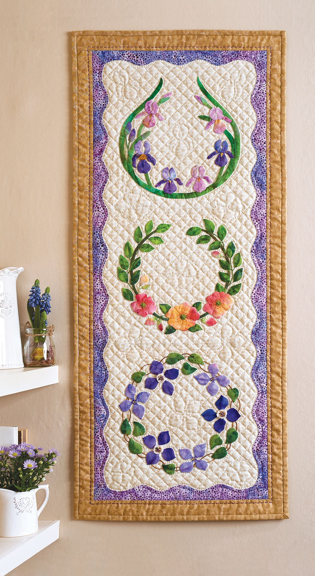 Download our free applique templates to sew Shirley Bloomfield's