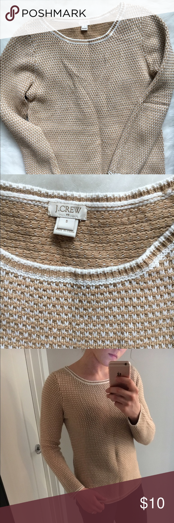 Knit Sweater This J.Crew Sweater is a favorite of mine! Crease is just from how sweater is folded. J. Crew Sweaters Crew & Scoop Necks